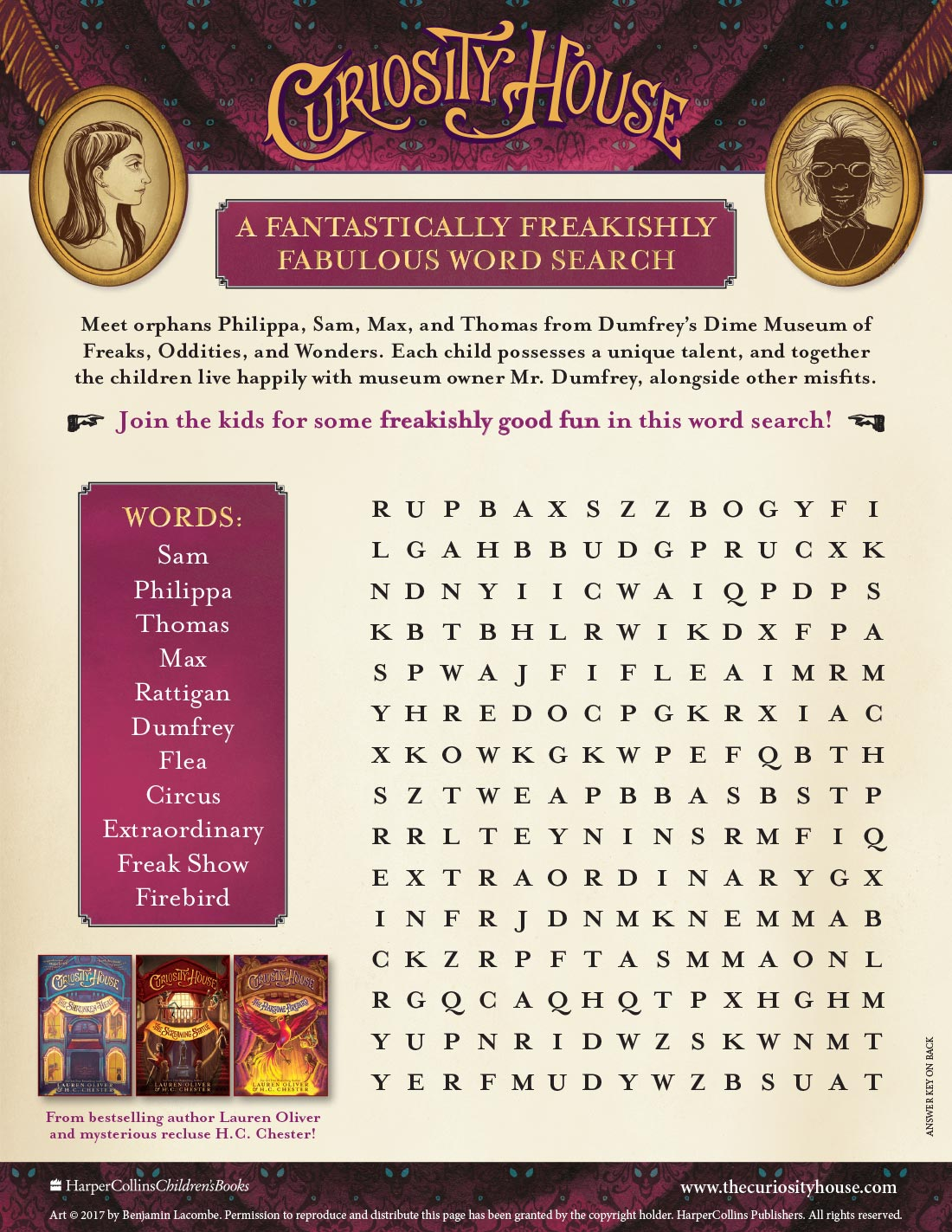 Curiosity House Word Search